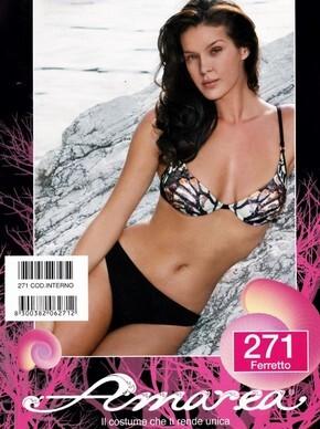 Costume da bagno bikini 2 pezzi donna con ferretto made in Italy AMAREA 271  TG. 42 1f4d95b6300