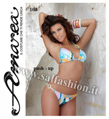 Costume da bagno bikini 2 pezzi donna push-up made in Italy AMAREA 103