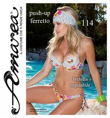 Costume da bagno donna bikini 2 pezzi push-up made in Italy AMAREA 114