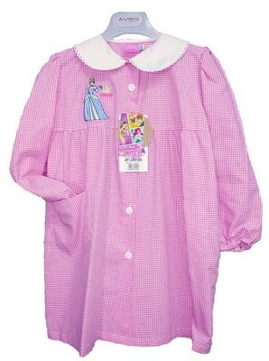 MINNIE Grembiule scuola bimba per asilo materna quadretti rosa DISNEY FROZEN