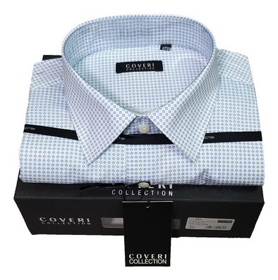 Camicia uomo manica lunga  collo francese 100% cotone COVERI COLLECTION C82/6 tg. XL - 43/44
