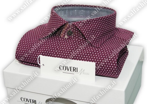 Camicia uomo semi slim collo francese made in Italy COVERI MOVING I17-36 tg. XXL collo 44