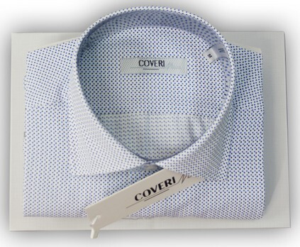 Camicia uomo semi slim collo francese made in Italy COVERI MOVING I17-401 tg. XXL collo 46