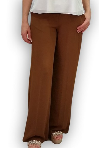 Pantalone donna  in crespo leggero Made in Italy ELENA P 7336