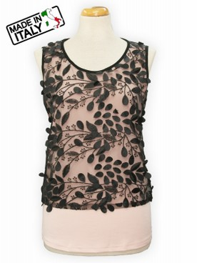 TOP CANOTTA DONNA MADE IN ITALY EMMEGI 711