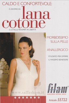 CANOTTIERA INCROCIO DONNA SPALLA LARGA LANA COTONE FILAM ART. 55722