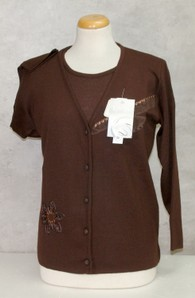 Completo maglia donna twin set invernale in lana made in Italy LADY LIKE 261