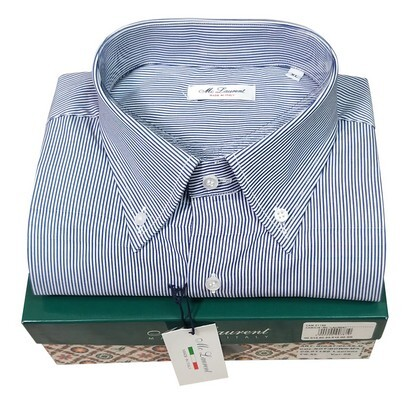 Camicia uomo manica lunga bottom down made in Italy 100% cotone MC LAURENT 01150-05