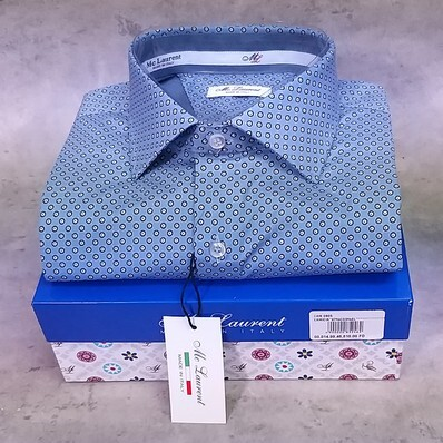 amicia uomo semi slim collo francese made in Italy MC LAURENT 0805 -11 tg. L collo 41