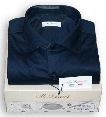 Camicia uomo semi slim collo francese made in Italy MC LAURENT 0820 Blu tg. XXXL collo 46