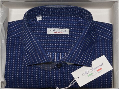 Camicia uomo collo francese made in Italy 100% cotone MC LAURENT 307/685-01 TG. L/42