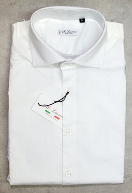 Camicia uomo manica lunga collo francese slim fit  MC LAURENT tg. L collo 40