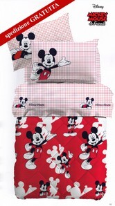 Trapunta invernale + lenzuola 1 posto singolo made in Italy Caleffi Disney MICKEY MOUSE