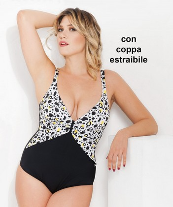 Costume intero donna mare piscina con coppa estraibile MISS MAREA by AMAREA 17626