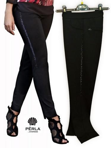 Pantalone donna morbido con laccetto taglie comode made in Italy PERLA OVERSIZE
