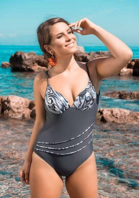 873a21f569bd Costume intero donna mare piscina con coppe e ferretto made in Italy  PLAYAMAR art: 368