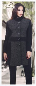 Cappotto donna in tessuto made in Italy RACAL T-258