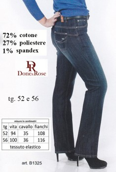 JEANS DONNA TAGLIE FORTI Done & Rose B1325