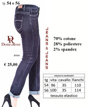 JEANS DONNA TAGLIE FORTI Done & Rose B1834